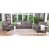 Whipton 3 Piece Leather Living Room Set by Three Posts