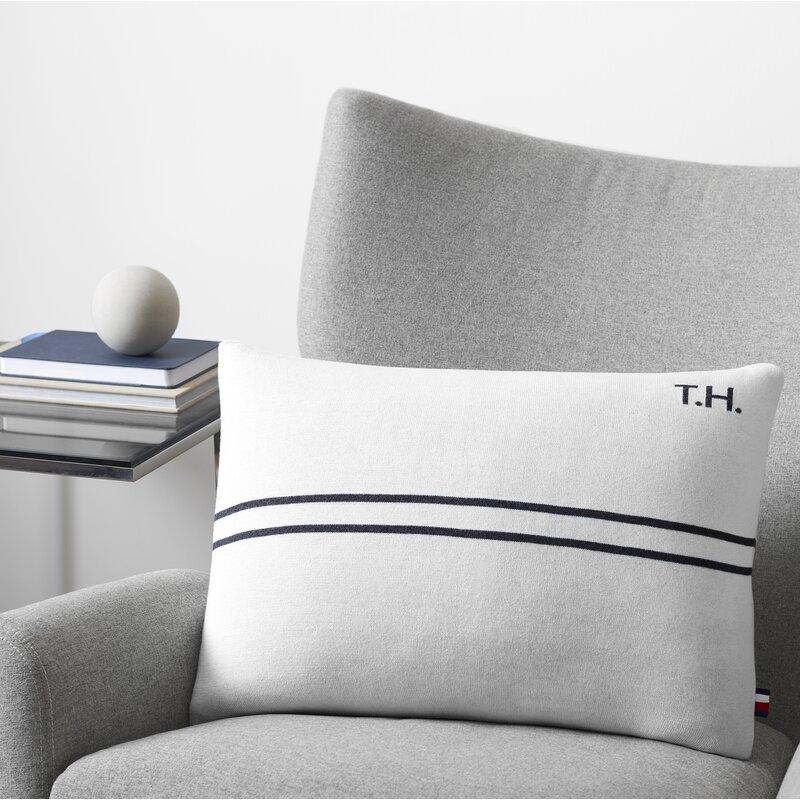 Tommy Hilfiger Cotton Feathers Striped Lumbar Pillow Wayfair