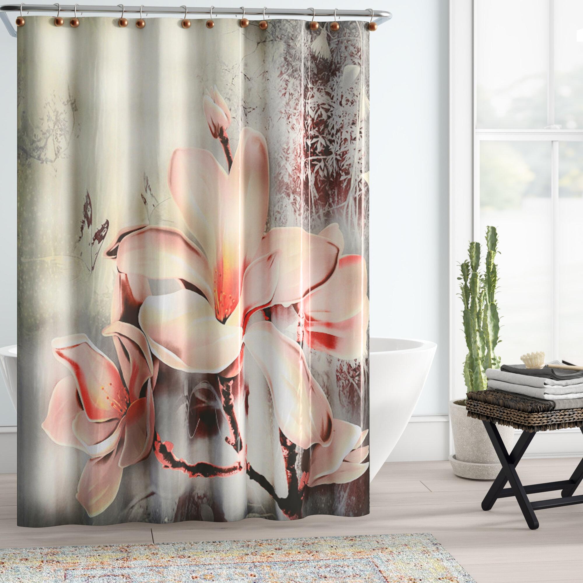 Bloomsbury Market Lyly Fancy Lily Single Shower Curtain Reviews Wayfair
