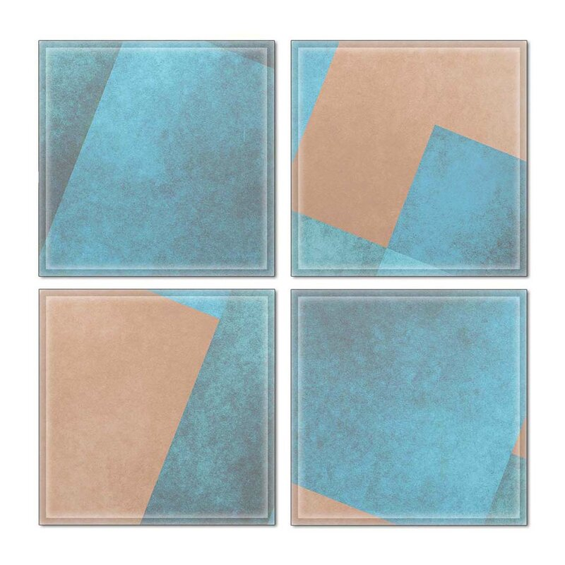 Upscale Designs By Ema 6 X 6 Glass Decorative Accent Tile In Blue Brown Wayfair
