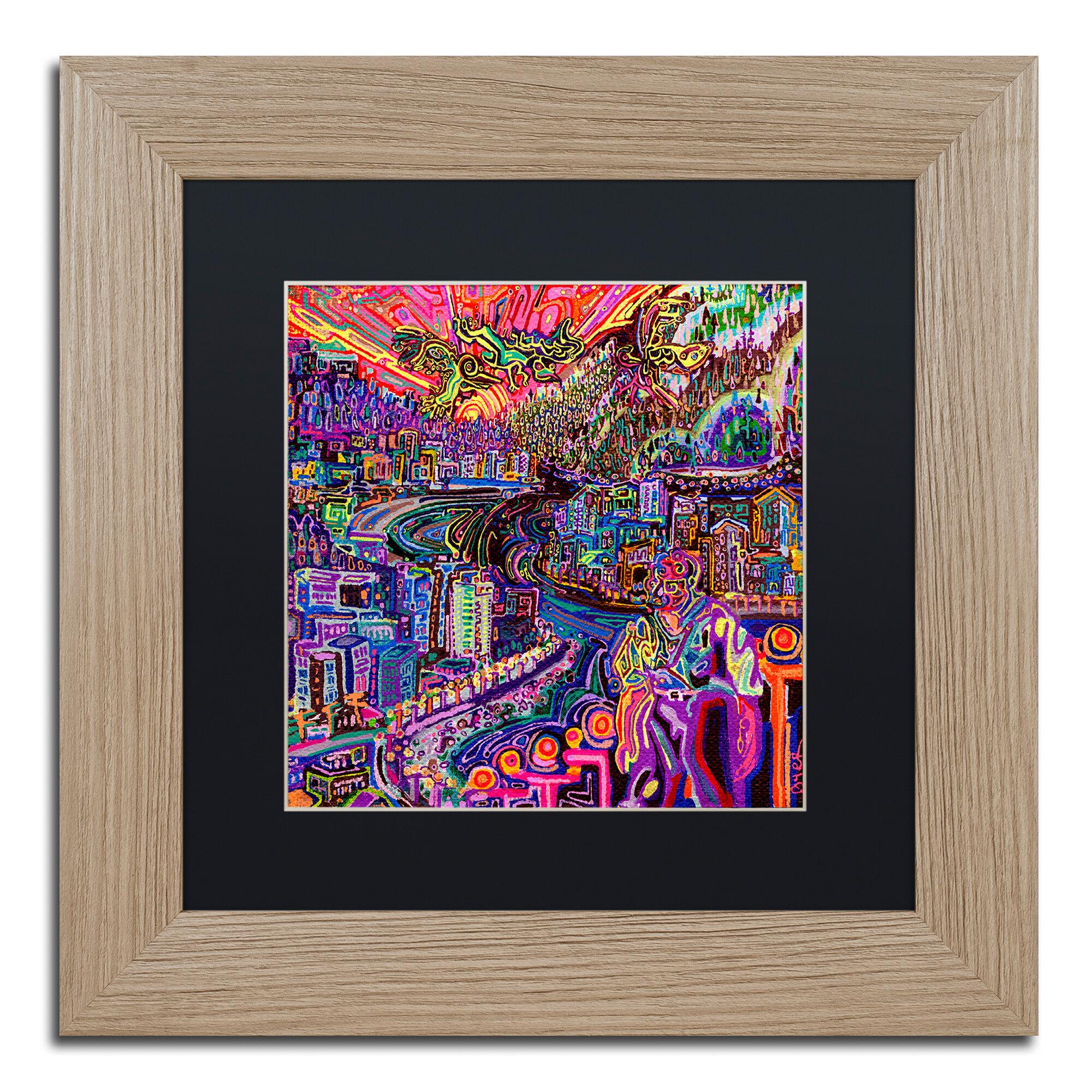 Trademark Art Hobo Framed Graphic Art Print On Canvas Wayfair