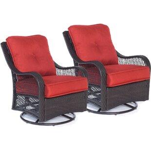Alcott Hill Innsbrook Patio Chair with Cushion (Set of 2)