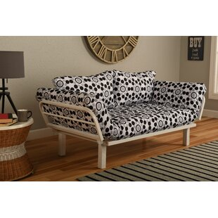 Ebern Designs Everett Convertible Lounger in Well Rounded Futon and Mattress