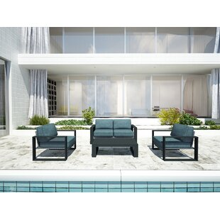 Hobson 4 Piece Sofa Set with Cushions