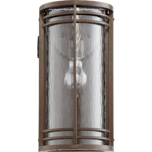 Amethyst 1-Light Outdoor Flush Mount By Millwood Pines Outdoor Lighting