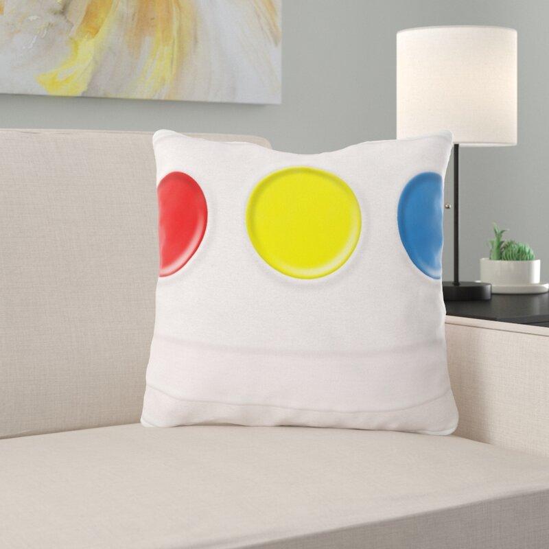 Ebern Designs Wilke Paint Throw Pillow Wayfair