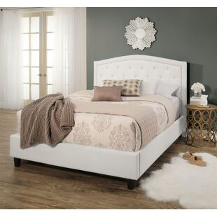 Searcy Tufted Linen Upholstered Platform Bed