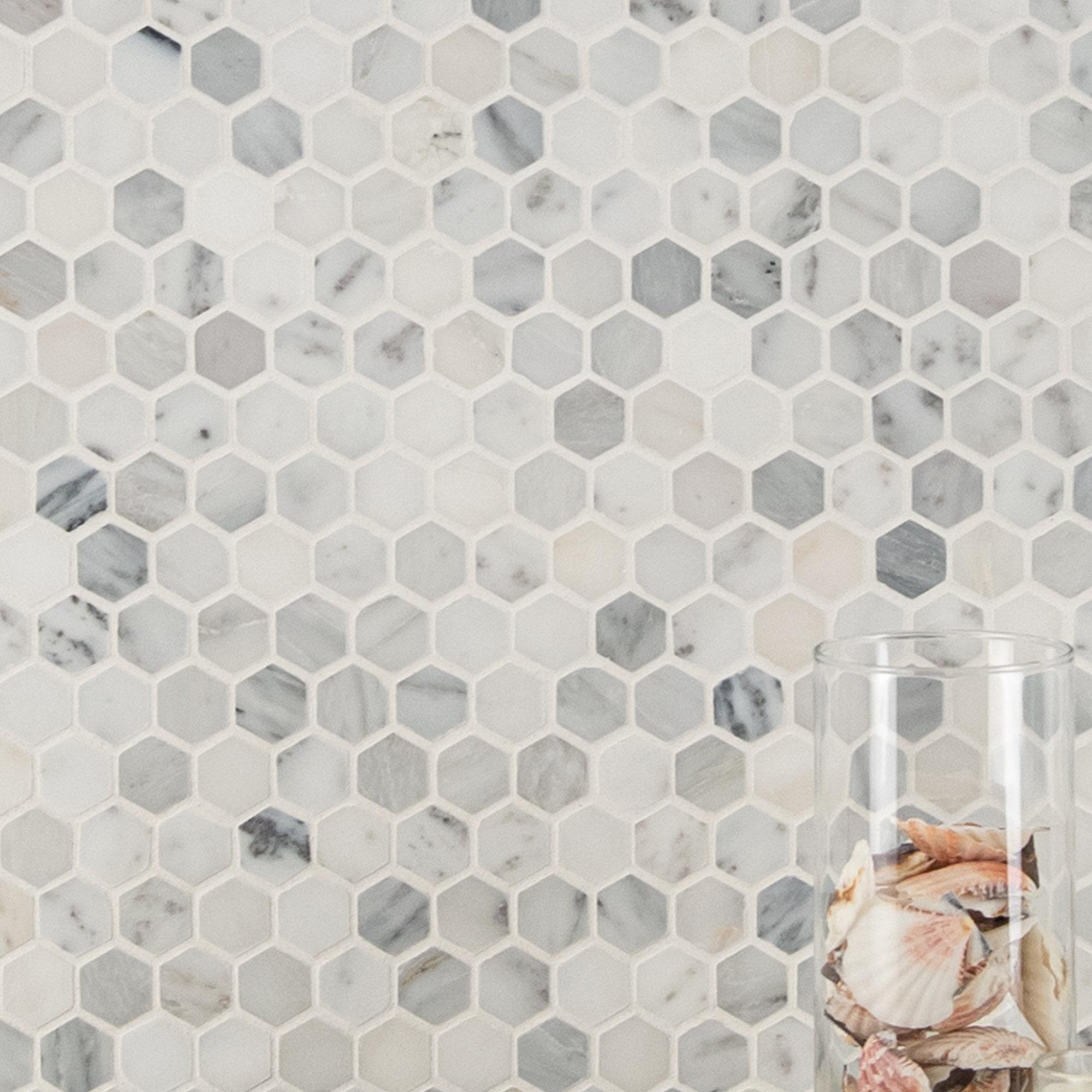 Msi Greecian 1 X 1 Marble Mosaic Tile Reviews Wayfair