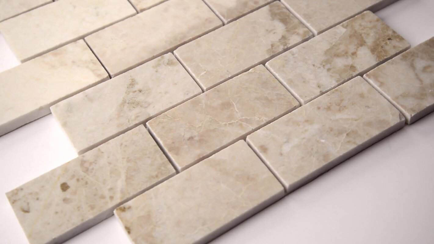 Msi crema cappuccino polished 2 x 4 marble mosaic tile in beige crema cappuccino polished 2 x 4 marble mosaic tile dailygadgetfo Gallery