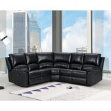 Zech 80 Faux Leather Symmetrical Reclining Corner Sectional by Red Barrel Studio®