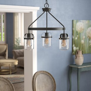 Portland 3-Light Wagon Wheel Chandelier by Laurel Foundry Modern Farmhouse