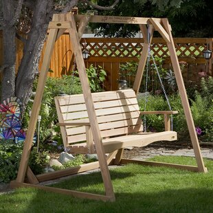 All Things Cedar Porch Swing with Stand