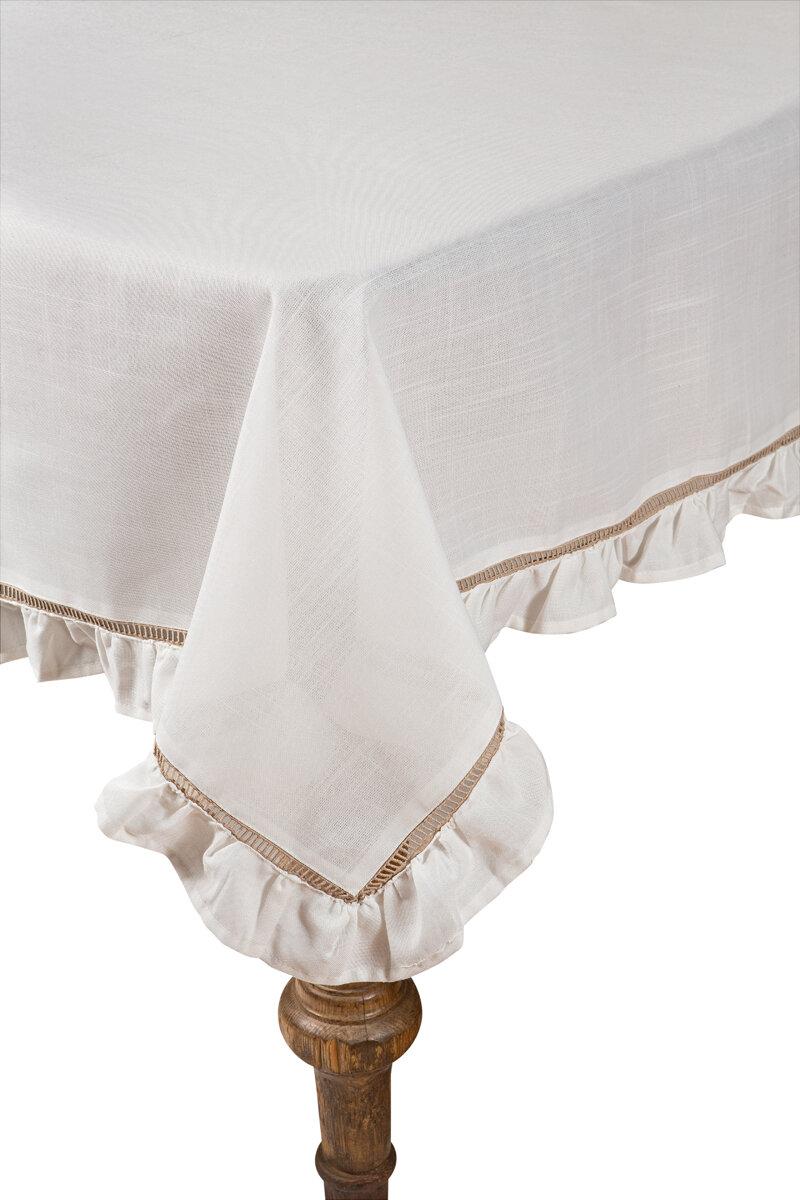 Xia Home Fashions Hemstitch Ruffle Trim Tablecloth Reviews Wayfair