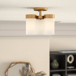 Riaria 3-Light Semi Flush Mount by Mercury Row