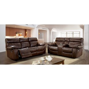 Kian Reclining Leatherette Living Room Set by Winston Porter