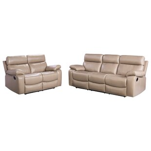 Mellor 2 Piece Leather Living Room Set