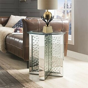 Sisson Round Mirrored Metal End Table