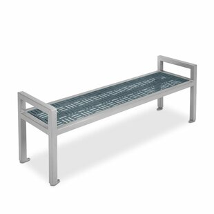 Element Steel Flat Garden Bench with Armrests