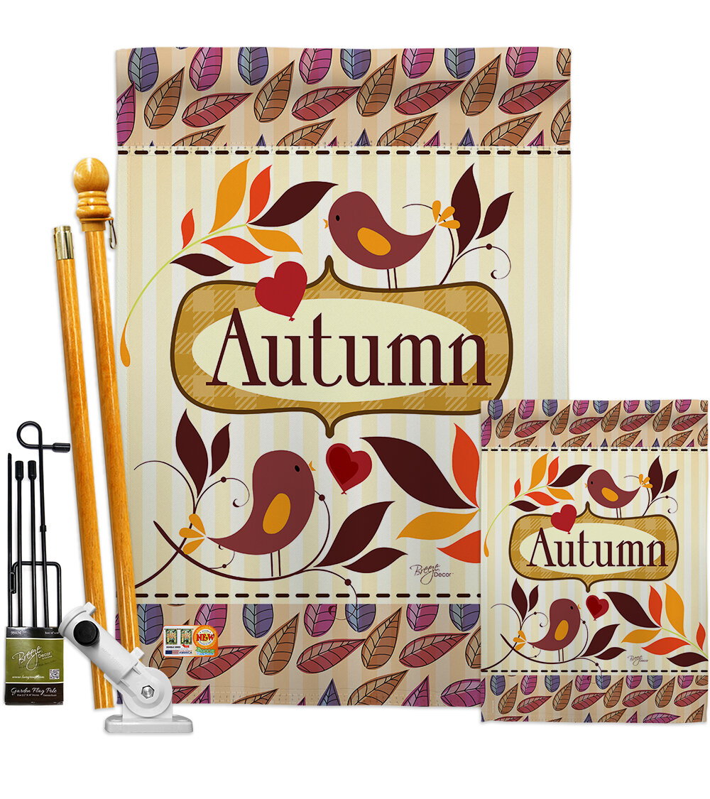 Breeze Decor Birds Autumn Impressions Decorative 2 Sided Polyester 40 X 28 In Flag Set Wayfair