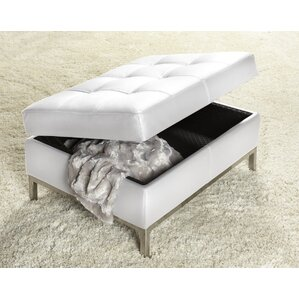 244 Series Ottoman Polar White by Lind Furniture