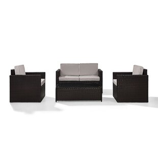Belton 4 Piece Rattan Sofa Seating Group with Cushions