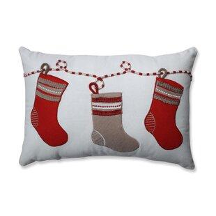 Country Home Stockings 100% Cotton Lumbar Pillow