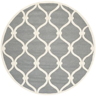 Martins Hand-Tufted Wool/Cotton Gray Area Rug by Wrought Studio