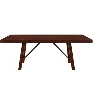 Red Barrel Studio Chiswick Solid Wood Trestle Extendable Dining Table
