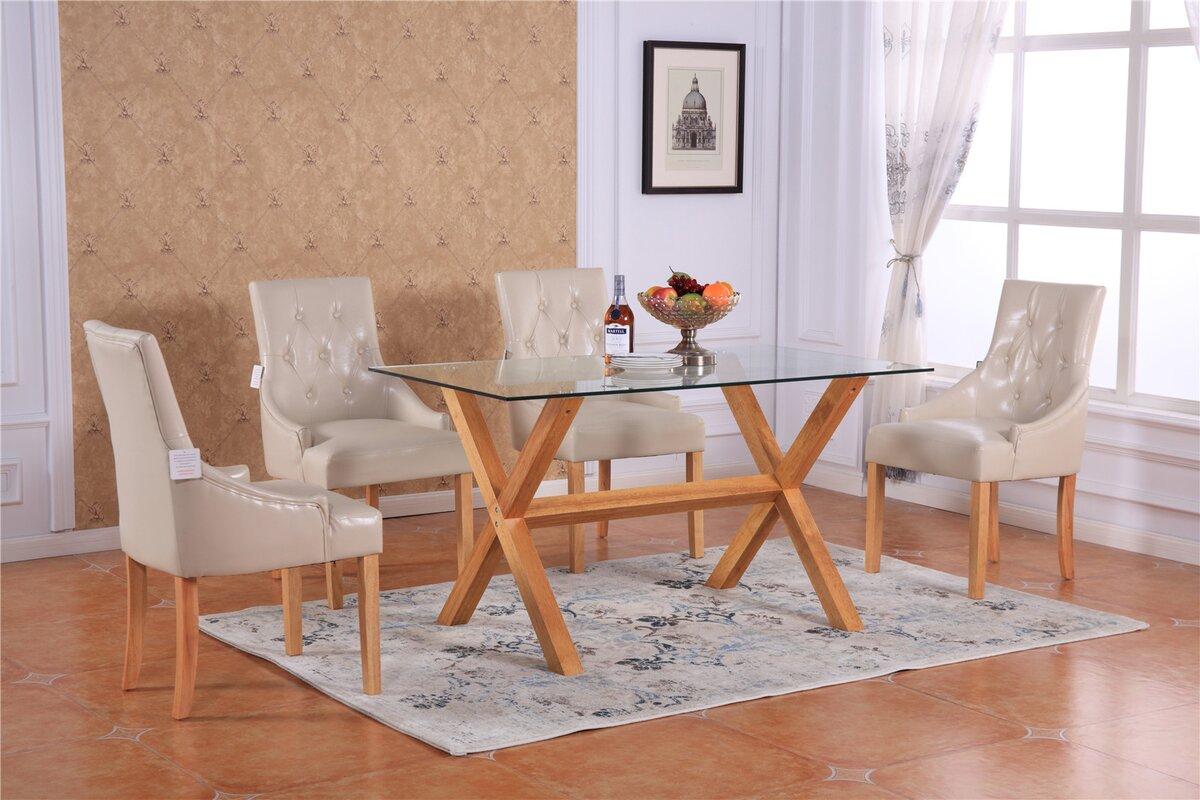 marlow home co essgruppe chowdhury mit 6 st hlen bewertungen. Black Bedroom Furniture Sets. Home Design Ideas
