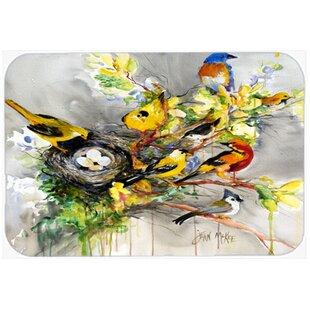 Spring Birds Glass Cutting Board
