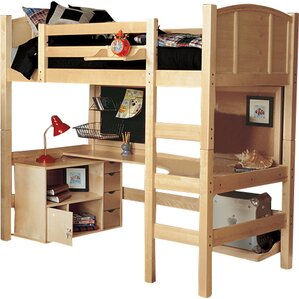 Radia Twin Loft Bed with Media Cart