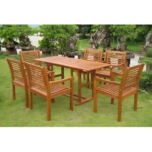 Breakwater Bay Sabbattus Cervera 7 Piece Dining Set