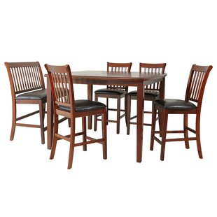 Gadsby 6 Piece Counter Height Solid Wood Dining Set