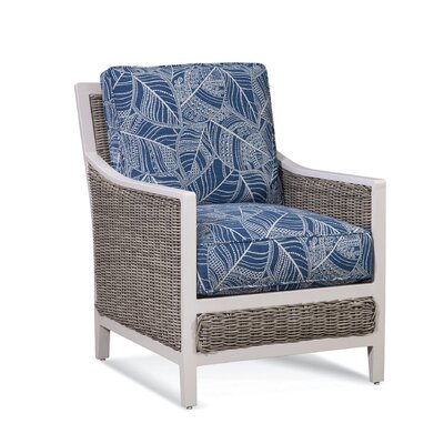 Molly Patio Chair with Cushions Fabric Color: 6412-63