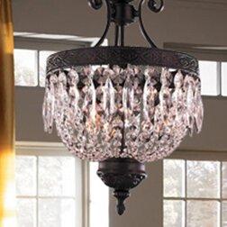 Arreola 3-Light Crystal Pendant by Astoria Grand