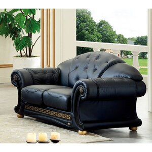 Noci Leather Loveseat by Noci Design