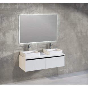Rebello Bathroom 1200mm Wall Hung Double Vanity Unit By Brayden Studio