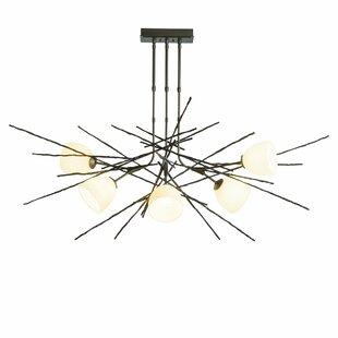 Hubbardton Forge Griffin 6-Light Sputnik Chandelier