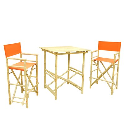 Buyers Choice Phat Tommy 3 Piece Bar Height Dining Set  Color: Tuscan