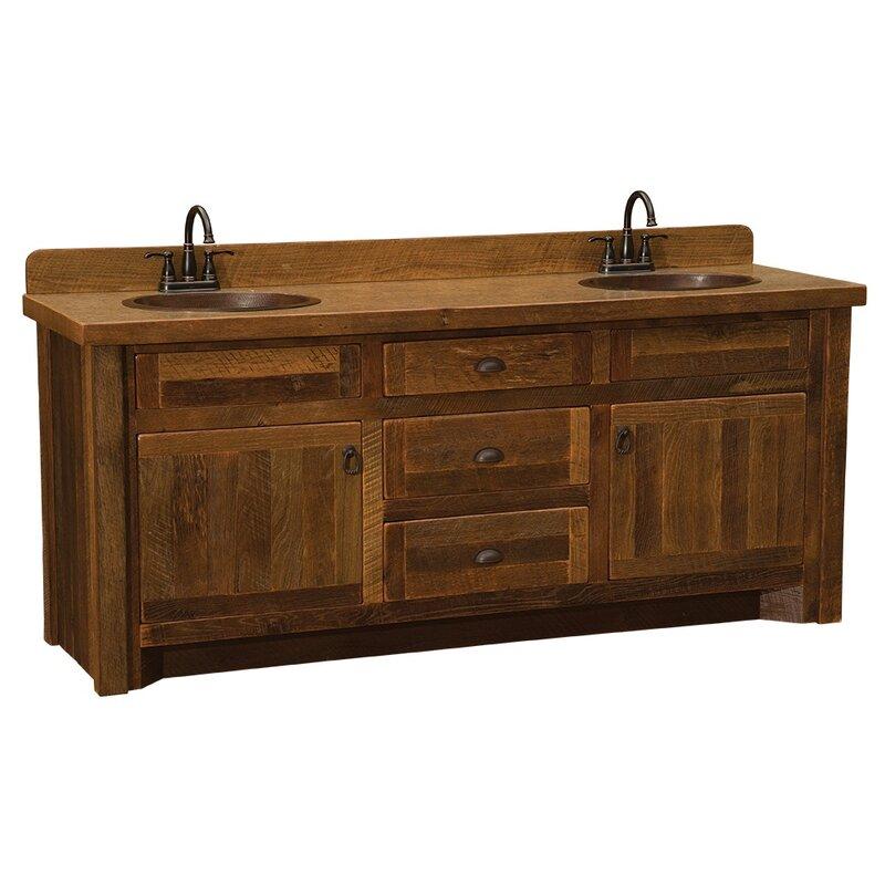 Union Rustic Derecho 72 Double Bathroom Vanity Base Only In Brown Reviews Wayfair