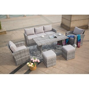 Brothers Outdoor 6 Piece Sofa Seating Group with Cushions