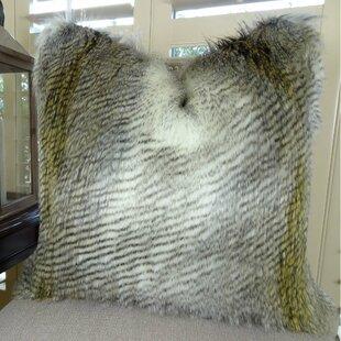 Montero Alaskan Hawk Faux Fur Pillow by Bloomsbury Market Best