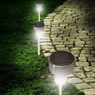 Solar Stainless Steel LED Pathway Light (Set of 8)