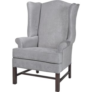 Reviews Wayne Wingback Chair By Darby Home Co