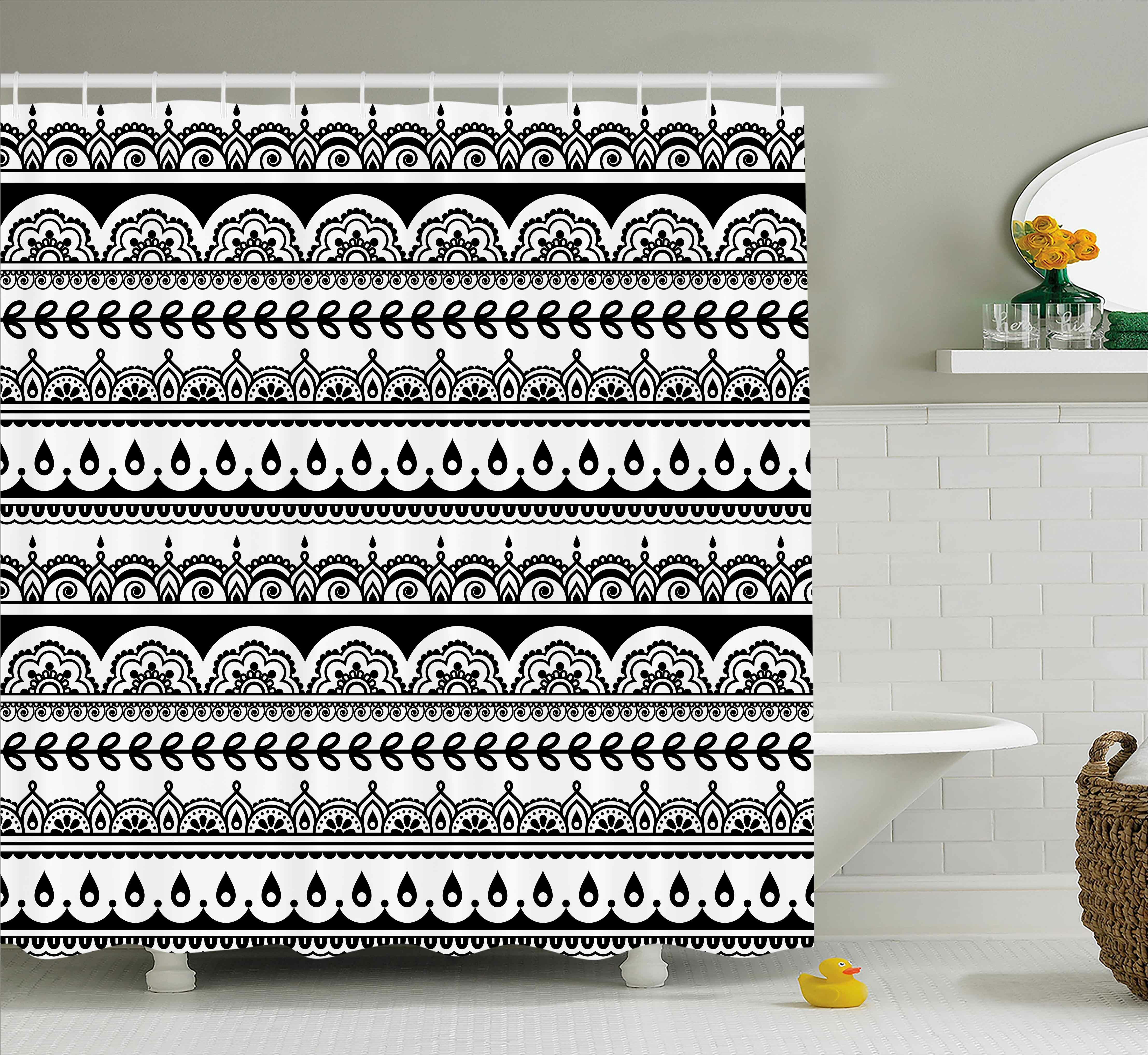 Ebern Designs Darla Tribal Ethnic Borders With Leaves Flowers Ivy Swirls Indian Inspired Art Image Single Shower Curtain Wayfair