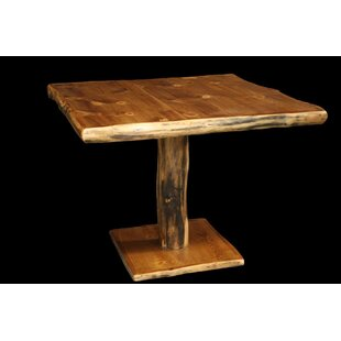 Amias 42 Pedestal Solid Wood Dining Table