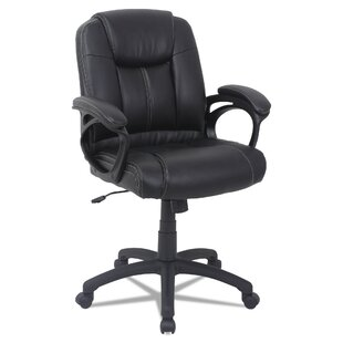 Otwell Mid-Back Genuine Leather Task Chair