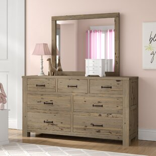 Bedlington 7 Drawer Dresser With Mirror by Greyleigh 2019 Sale