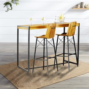 Port Augusta 3 Piece Pub Table Set Union Rustic