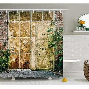 Berau Rustic Brick House Single Shower Curtain